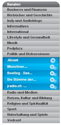 Podplaza auf Deutsch