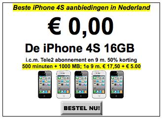 Aanbod op 29/01/2012 op GSMweb.nl